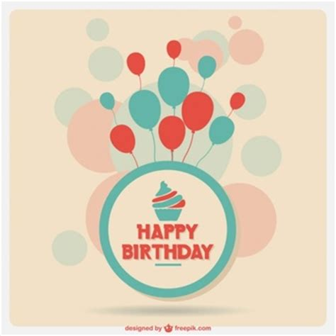 birthday candle card template birthday cupcake with candle vector free