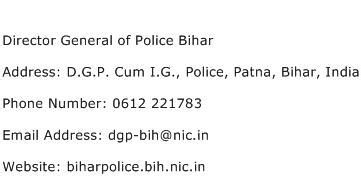 Director Address Search Director General Of Bihar Address Contact Number Of Director General Of