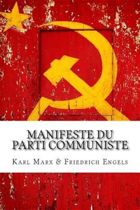 si鑒e du parti communiste manifeste du parti communiste karl marx 9782930718309