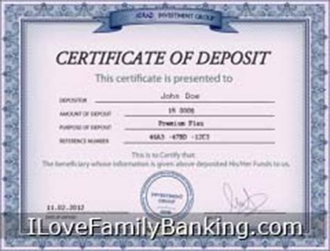 certificate of deposit template certificates of deposits cds or dividend paying whole