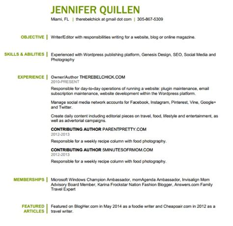 blogger resume how to create a blogger resume with office 365 personal
