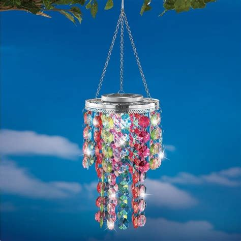 Solar Powered Chandelier Colorful Solar Powered Backyard Chandelier