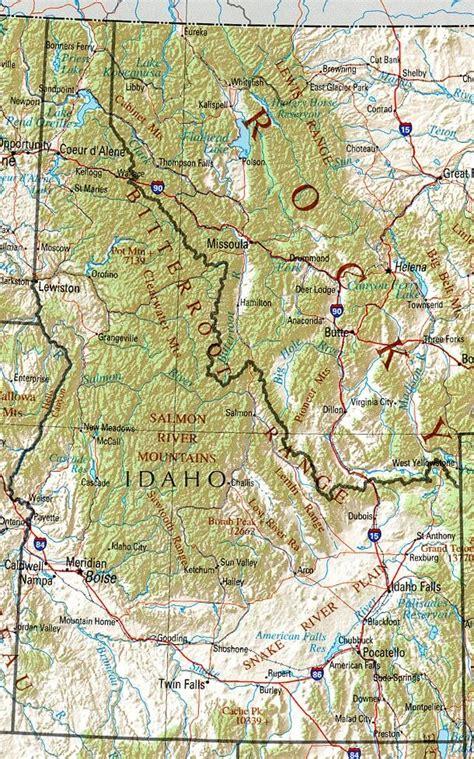 map of usa idaho idaho map