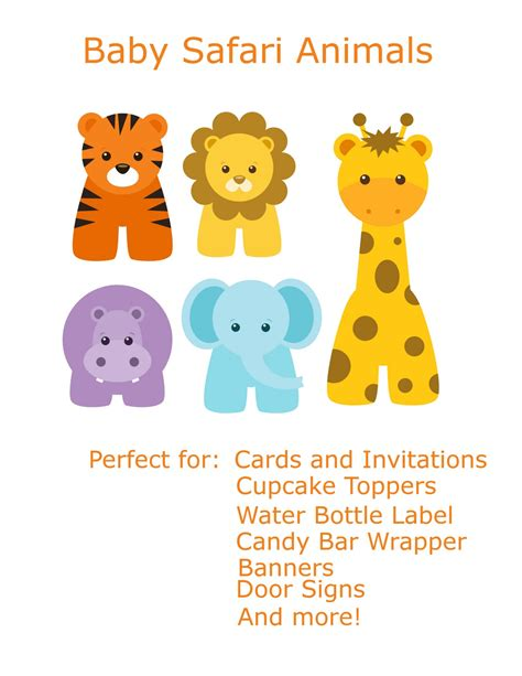 Baby Safari Animals Baby Shower by Birthdays Graphics And Showers On