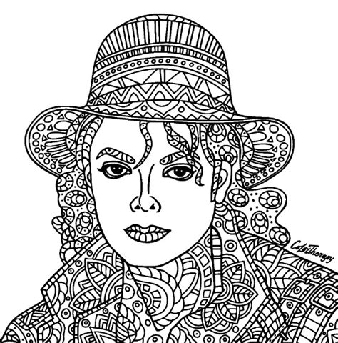 coloring pages for adults michaels michael jackson coloring color therapy app try this