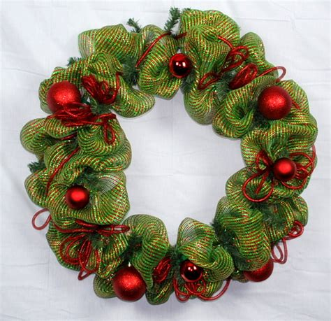 adding deco mesh last minute to xmas tree decoration ideas deco mesh wreath