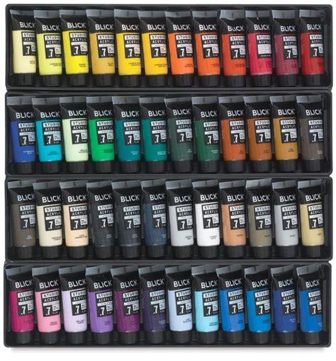 acrylic painting materials blick studio acrylic paints set of 48
