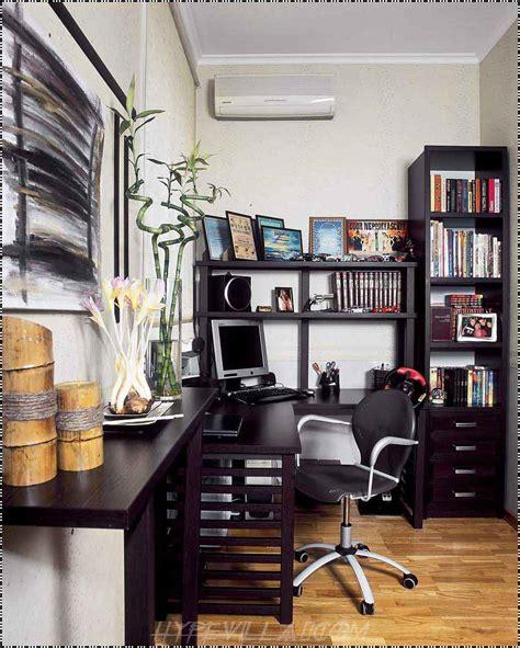 modern study room interior design  black furniture