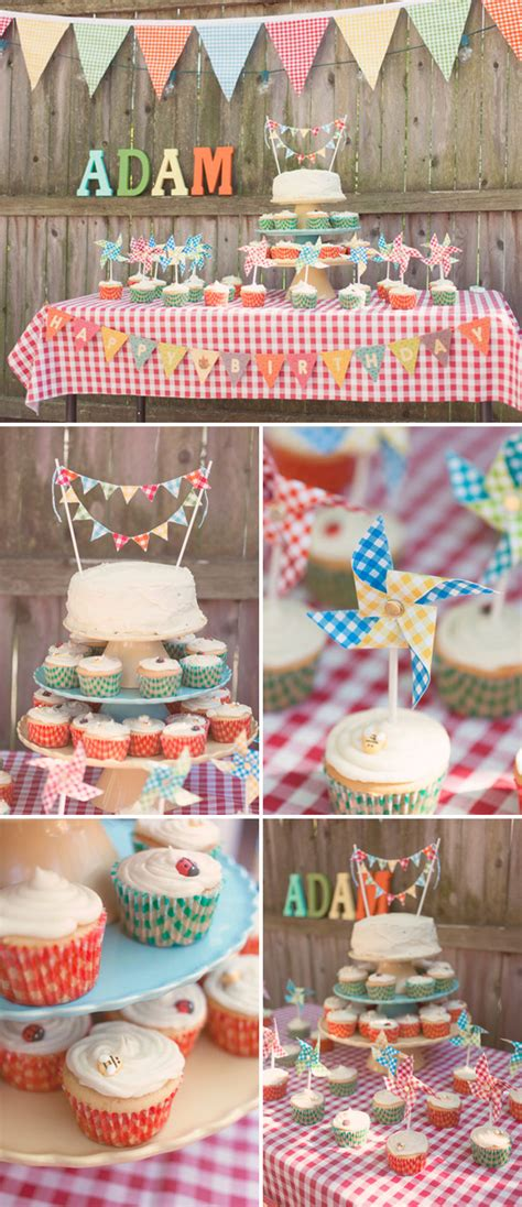 Theme Decorations by Festive 1st Birthday With A Picnic Theme