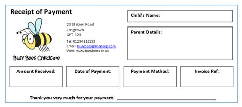 logo receipt template invoices receipts mindingkids