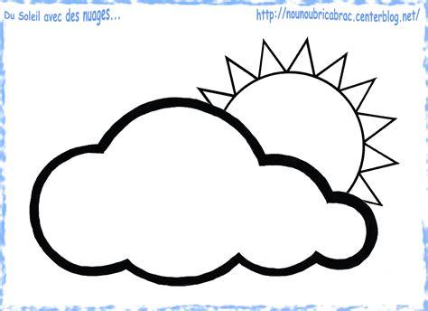 Soleil Nuages Coloriage Enfants Pinterest Nuage Dessin A Imprimer Un Nuage De Neige Symbole Meteo L