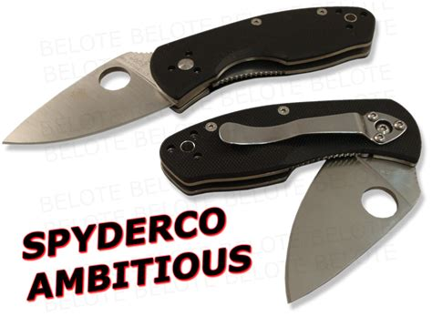 related keywords suggestions for spyderco ambitious