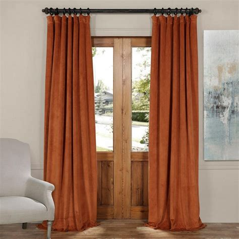 Burnt Orange Velvet Curtains 15 Collection Of Orange Velvet Curtains Curtain Ideas