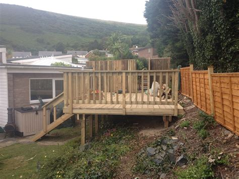 Decking Ideas For Sloping Garden Garden Carpentry Timber Decking Design And Build Our Decking Design And Builds