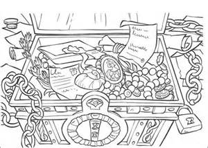the treasure coloring page | free printable coloring pages