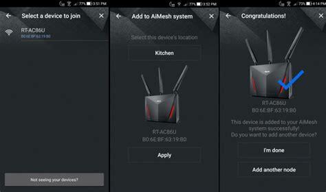 Router Besar Modern asus hadir dengan perisian aimesh yang membolehkan anda menggabung beberapa router ke satu rangkaian