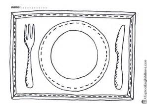 template drawing table a typical home printable placemats for to color