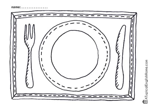 Placemat Coloring Page a typical home july 2014