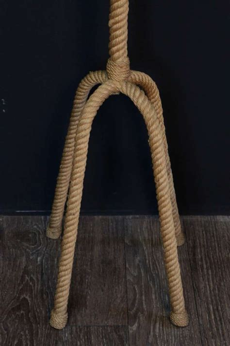 Rope Floor L 1950 S Rope Floor L By Audoux Minet For Sale At 1stdibs