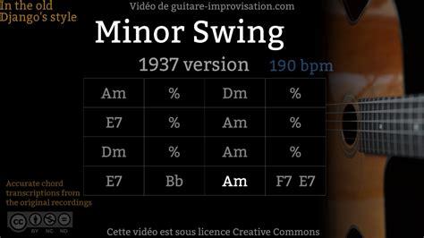 minor swing backing track minor swing 190 bpm 1937 jazz backing track