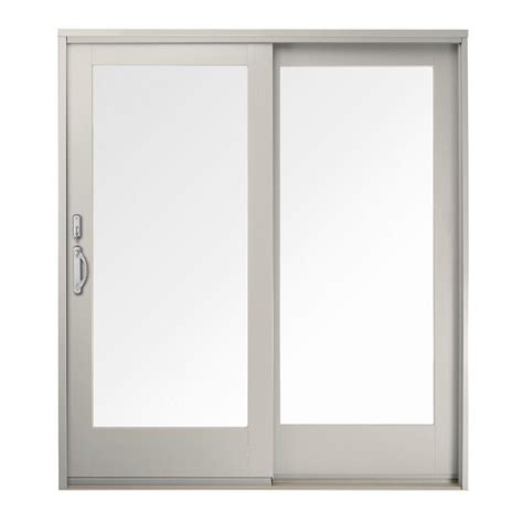 Andersen Patio Doors 400 Series Andersen 71 In X 80 In 400 Series Frenchwood White Left