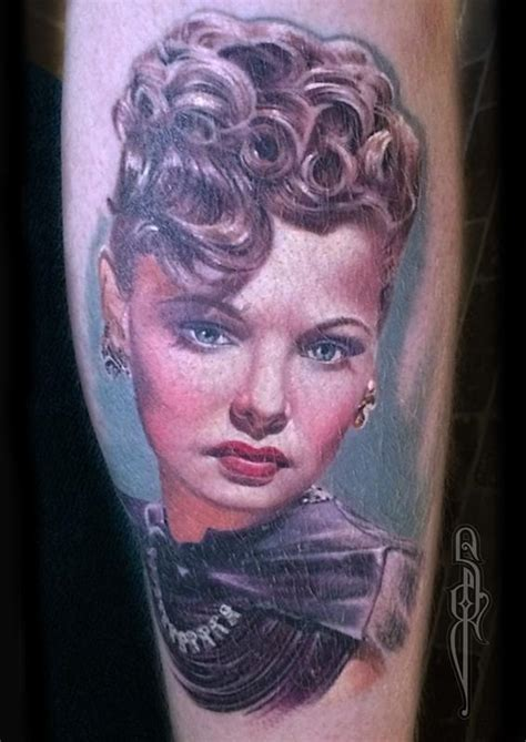 samantha tattoo healed colour portrait by ford tattoonow