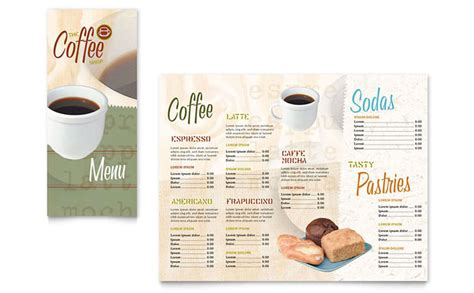 design coffee shop menu layout coffee shop take out brochure template design