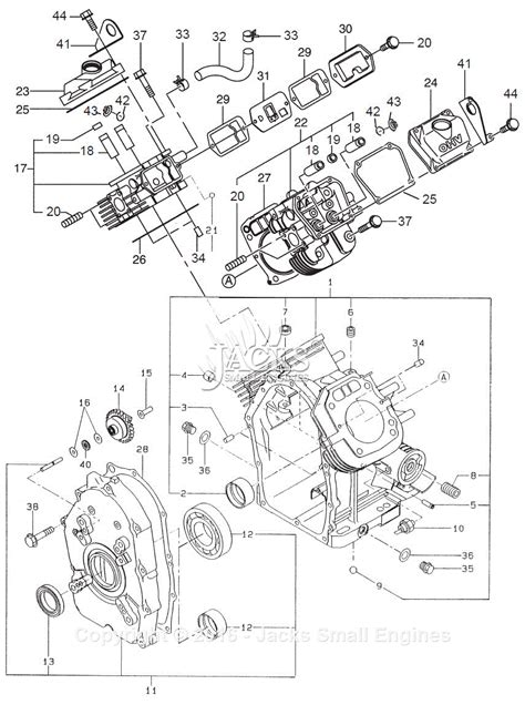 Robin Subaru Eh63 Parts Diagram For Crankcase New Type