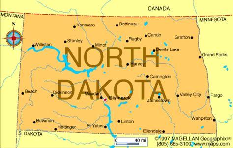 North Dakota Map Usa by Usa Dive Sites North Dakota