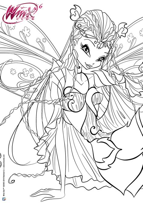 winx bloom 3d mythix coloring pages