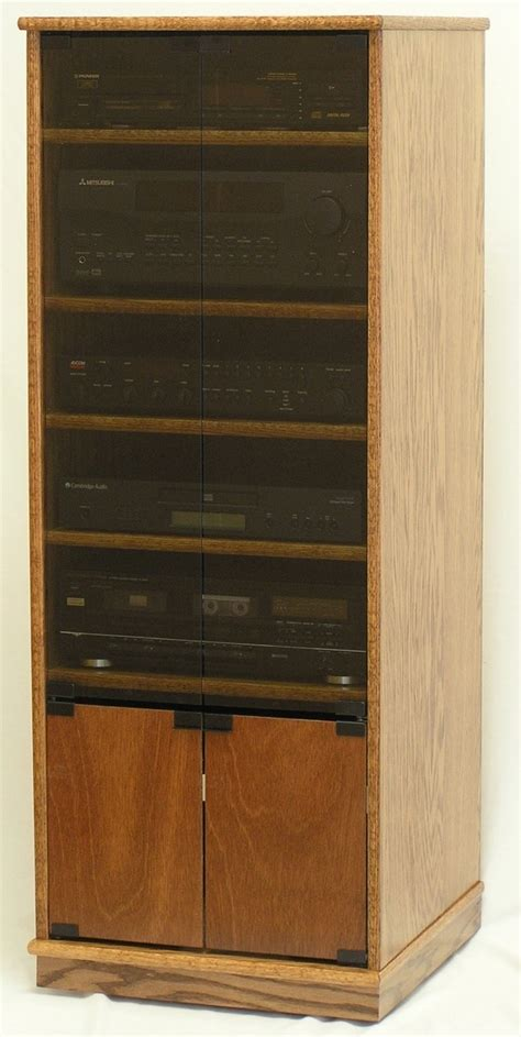 small stereo cabinets with glass doors modern component stereo cabinet with glass doors 53 quot high