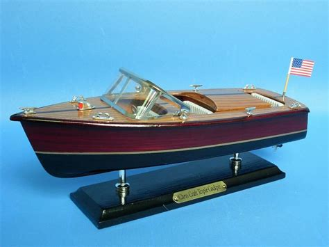 speed boat models buy wooden chris craft triple cockpit model speedboat 14