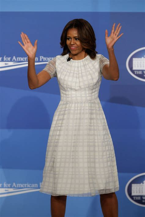 michelle obama day dress michelle obama  stylebistro