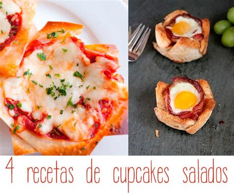 cupcakes salados recetas 4 recetas de cupcakes salados pequeocio
