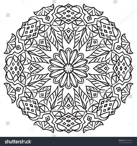 ottoman motifs hand drawing zentangle element flower mandala islam