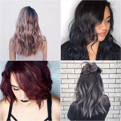 hair colors for brunettes rainbow hair color ideas for brunettes from instagram