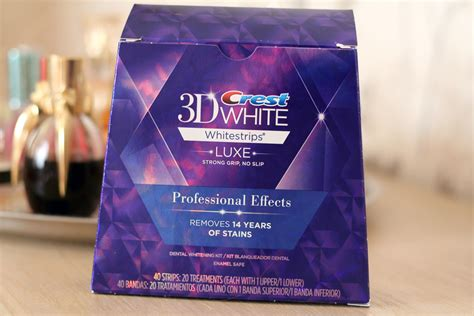 crest whitening strips with light crest 3d white luxe whitestrips professional effects