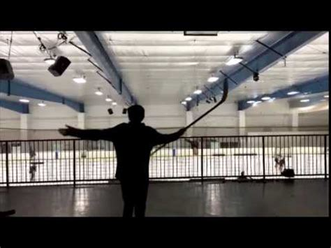 pineville ice house pineville youth hockey trick shot from mezzanine youtube
