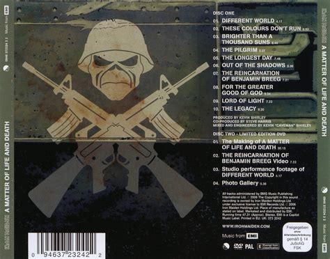 iron maiden a matter of and car 225 tula trasera de iron maiden a matter of and