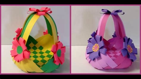 How To Do Arts And Crafts With Paper - basket origami tulip how to make rainbow loom backpack