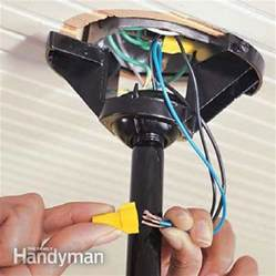 Installing Ceiling Fan Wire How To Install Ceiling Fans The Family Handyman