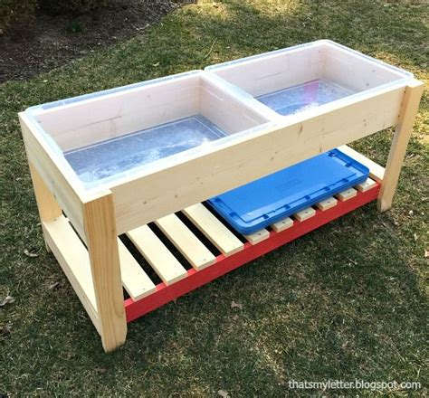 Sand Table Ideas Diy Sand And Water Play Table Quot A Diy Tutorial To Build A Sand And Water Play Table