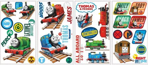 33 thomas train wall decals tank engine stickers