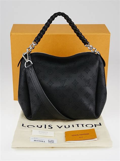 Louis Vuitton Runway Chain It Handbags 226 louis vuitton black monogram mahina leather babylone chain bb bag yoogi s closet