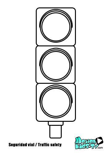 colorear semaforo pintas se 241 ales trafico recursos