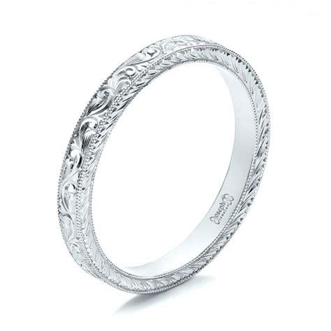 Engraved Wedding Bands by Custom Engraved Wedding Band 100814
