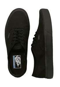 vans authentic lite canvas black black shoes