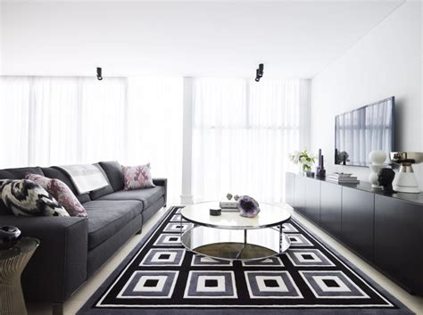 Grey And Black Living Room by Living Room Exciting Black White And Grey Living Room Decoration Using White Coffee Table
