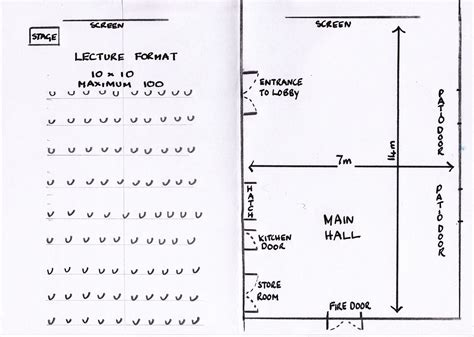 table layout height 100 hall plan and seating options hall for all weston