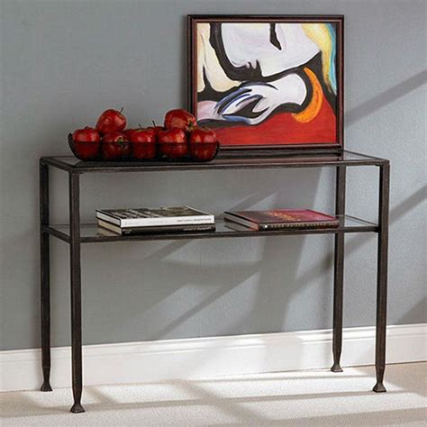 black metal and glass sofa table black metal frame sofa table with clear tempered glass top